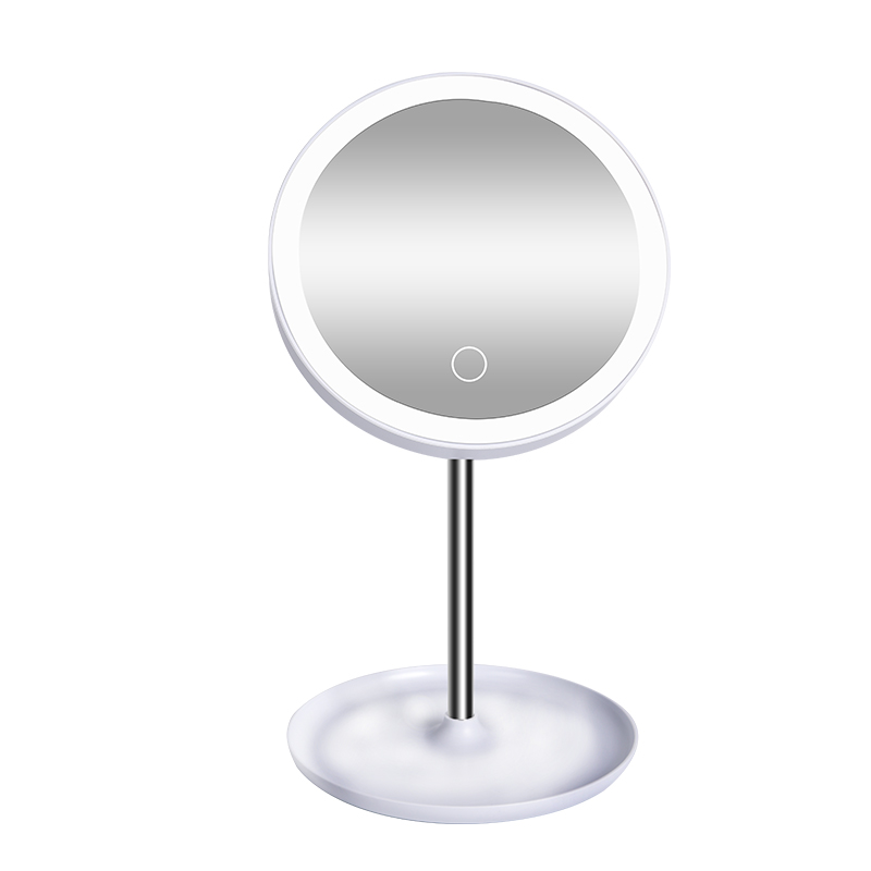 High Quality Portable Smart LED Cosmetic Mirror Makeup Round Mirror Light