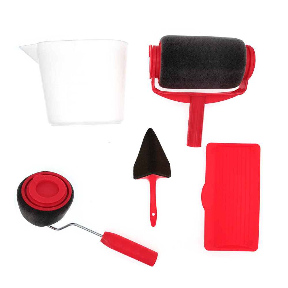 Wall Paint roller pro brush set with sewing seam and paint roller edge paint corner