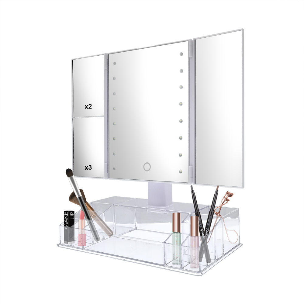 LED folding makeup mirror adjustable LED makeup cosmetic Mirror