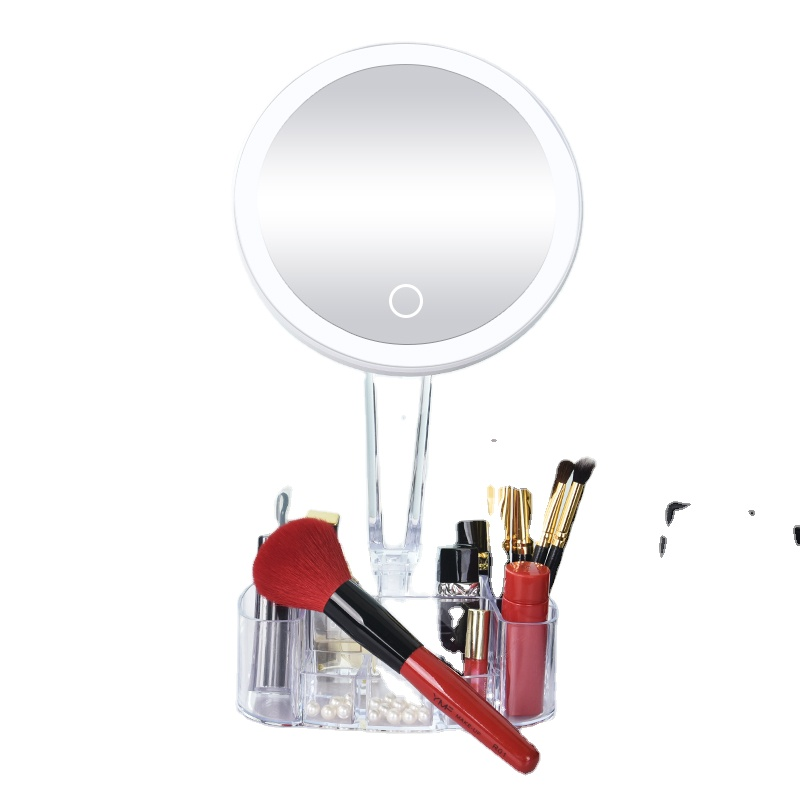 Adjustable Portable Touch Magnification White Led Makeup Mirror