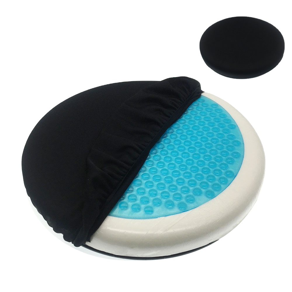 Cooling Gel Enhanced Silicone 360 Rotation Memory Foam Seat Cushion