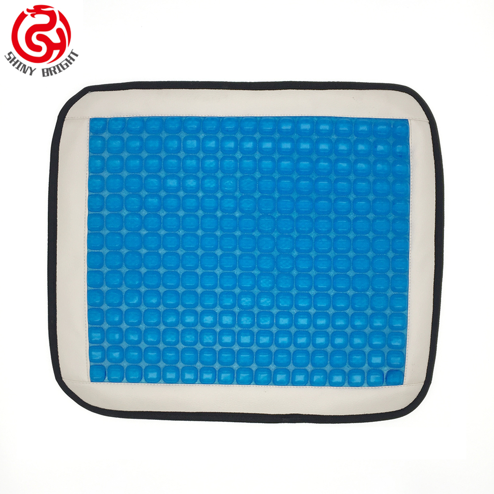 High quality summer cooling memory silicone car seat cushion with massage function